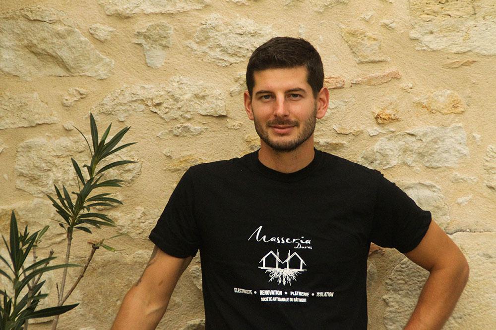 Gabriel Dal-Mas chef d'entreprise chez Masseria Duras
