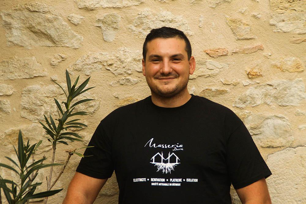 Jeremy Poirier Responsable technique chez Masseria Duras